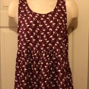 Sleeveless Bird Summer Dress